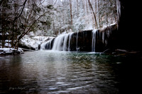 Princess Falls dressed in winter white